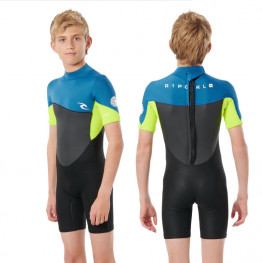 Rip Curl Omega Boys Back Zip 1.5mm 2021 - Neon Lime