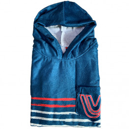 Poncho After Sailor Stripes Marine Vague Et Vent