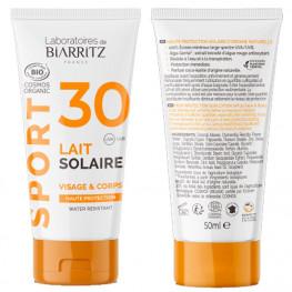 Lait Solaire Spf30 Laboratoire De Biarritz Gamme Sport