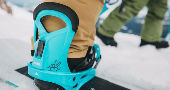 Fixation snowboard enfant